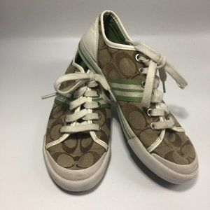 Coach Folly Jacquard & Patent Sneakers